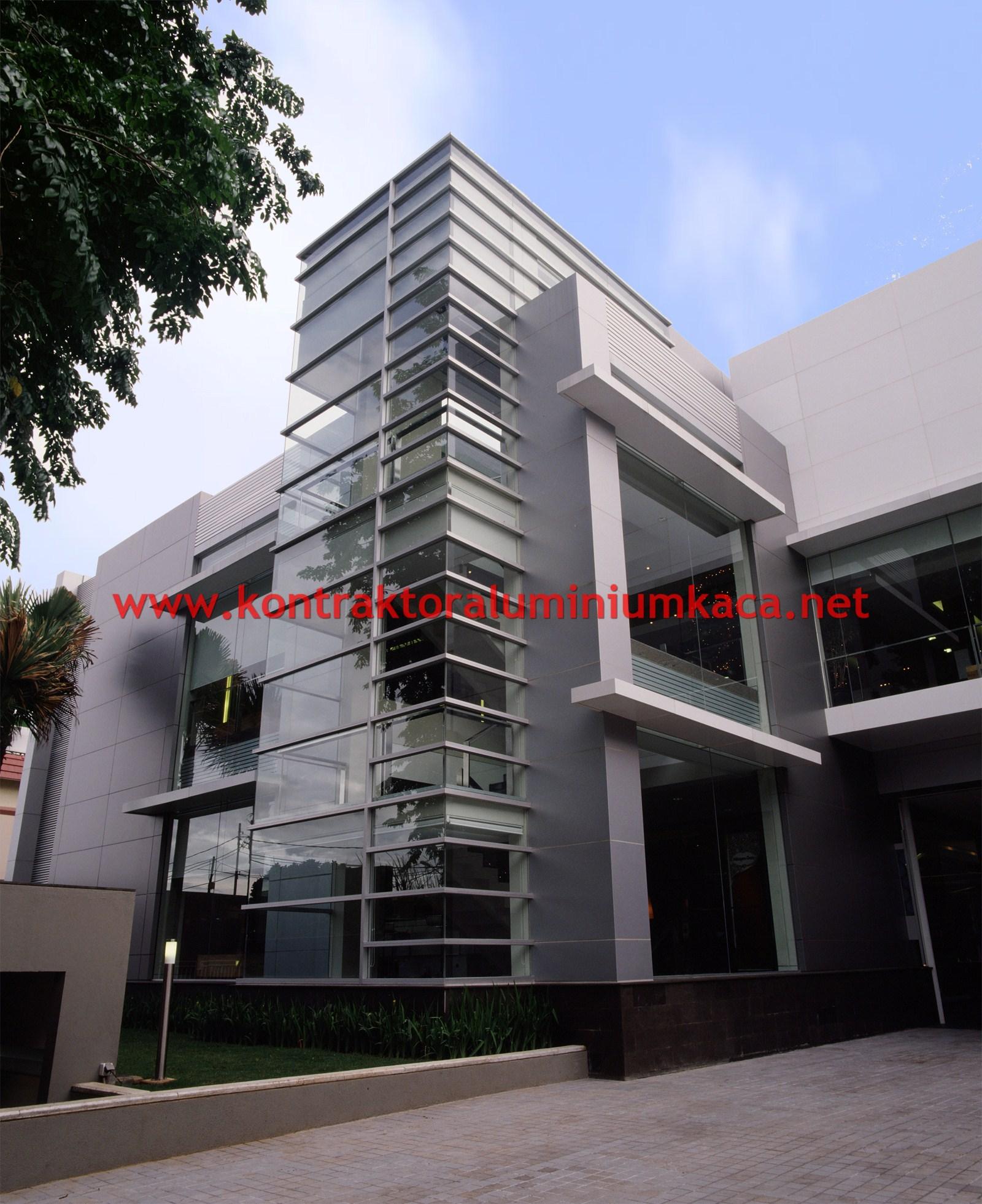 kontraktor aluminium kontraktor kaca facade composite. Black Bedroom Furniture Sets. Home Design Ideas