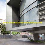 Tahap Pemasangan Back Mullion System Oleh Kontraktor Aluminium Curtain Wall